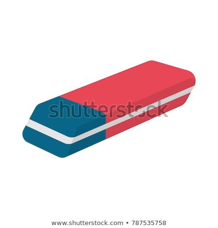 Eraser инструментом школы канцтовары поставлять 3D Сток-фото © robuart