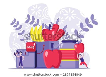 criança · excesso · de · peso · pessoas · pais · criança - foto stock © bluering