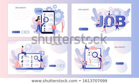Humanismo recursos aterrissagem página modelo entrevista de emprego Foto stock © RAStudio