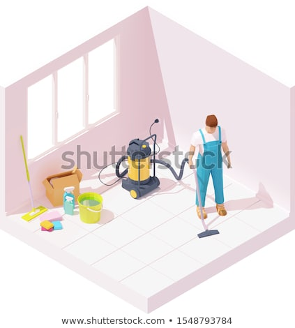 Vector isometric house cleaning after renovation Stock photo © tele52