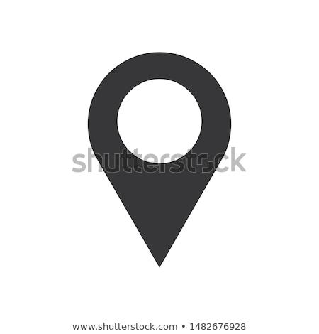 Map pointer icon in flat style. Navigator symbol isolated on white background. Vector illustration Stock photo © olehsvetiukha