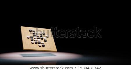 Társasjáték fekete copy space 3d illusztráció fény háttér Stock fotó © make