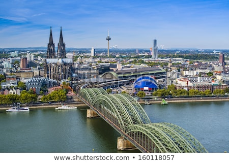 The river Rhine with the famous skyline of Cologne Stock photo © elxeneize