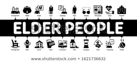 старший люди пенсионер минимальный баннер Сток-фото © pikepicture
