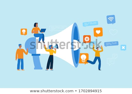 Vector concept of referral program. Network marketing. Refer a friend Stock photo © user_10144511