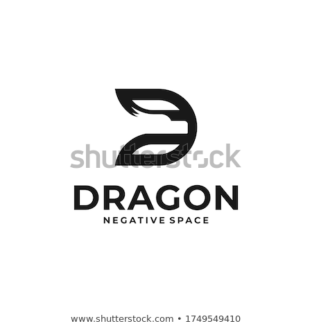 dragon with initial letter d logo Stock photo © krustovin