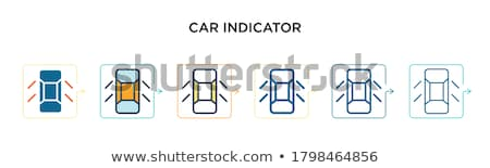 Car dashboard interface and indicators icon set, filling with pastel colors - service maintenance ve Stock photo © ukasz_hampel