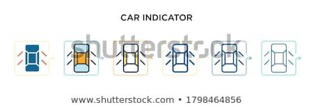Samochodu tablica rozdzielcza interfejs nadzienie pastel Zdjęcia stock © ukasz_hampel