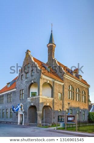 Városháza Észtország épület ház város nyár Stock fotó © borisb17