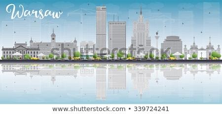 ワルシャワ スカイライン グレー 建物 青空 コピースペース ストックフォト © ShustrikS