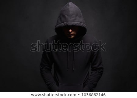 Closeup portrait of a dangerous criminal  Stock photo © konradbak