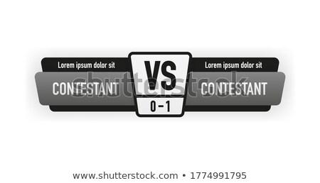 gray and black versus vs challenge banner Stock photo © SArts