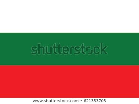 Bulgária zászló fehér háttér felirat utazás Stock fotó © butenkow