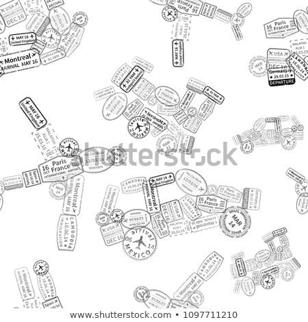 черный иммиграция марок автомобилей плоскости судно Сток-фото © evgeny89