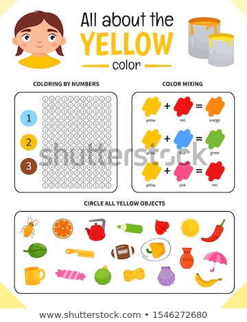 Yellow. Learn the color. Illustration of primary colors. Vector chick Stock photo © natali_brill