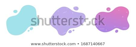 Résumé fluide vagues bleu texte cadre Photo stock © barsrsind