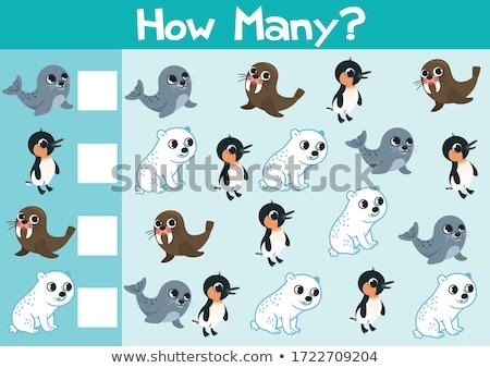 Feladat rajzolt állat betűk rajz illusztráció oktatási Stock fotó © izakowski