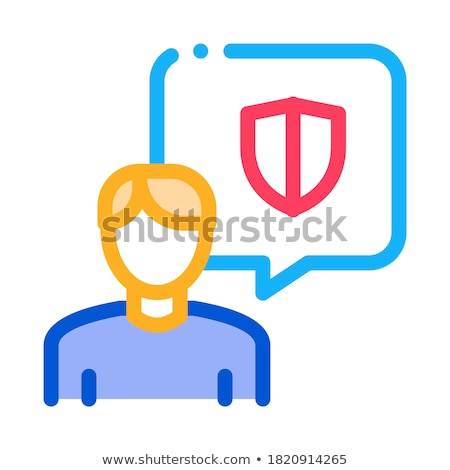 thought of protecting body icon vector outline illustration Stock photo © pikepicture