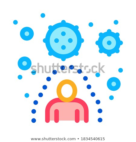 immunity human protection against harmful viruses icon vector outline illustration Stock photo © pikepicture