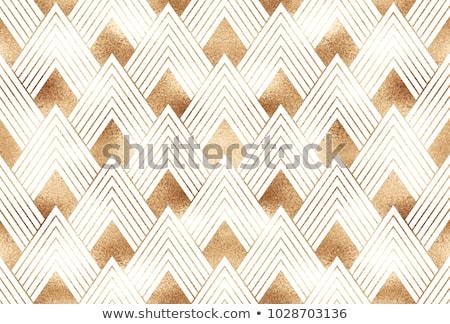 Premie gouden witte meetkundig art deco patronen Stockfoto © SArts
