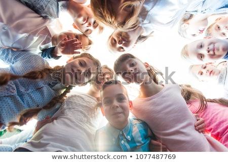 Stock fotó: Csoport · boldog · mosolyog · sokoldalú · gyerekek · nyári · tábor
