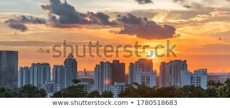 Singapore at sunset Stock photo © joyr