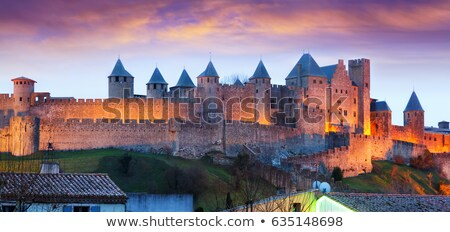 walls in carcassonne fortified town stock photo © razvanphotography