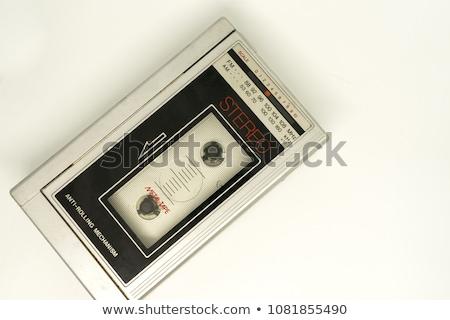 vintage · stéréo · radio · cassette · joueur · 80 - photo stock © elly_l