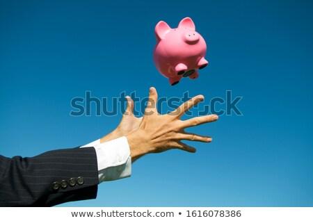 розовый Piggy Bank деньги внутри игрушку Сток-фото © stockfrank