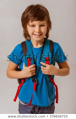 portrait of nice little schoolboy stock photo © wildman