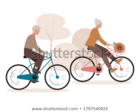 seniors riding bicycles in the park Stock photo © photography33