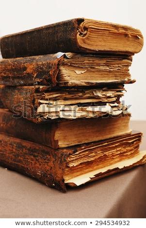 エッジ · アンティーク · 図書 · 平らでない - ストックフォト © deyangeorgiev