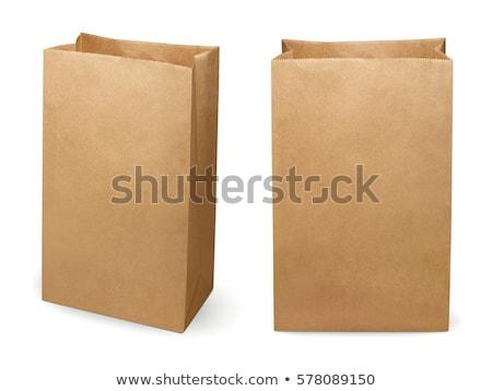 Zöld papírzacskó izolált fehér bolt ajándék Stock fotó © pinkblue