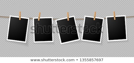 photos at the rope with clothespins Stock photo © gladiolus