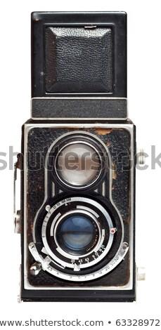 Tweeling lens reflex oude foto camera geïsoleerd Stockfoto © ozaiachin