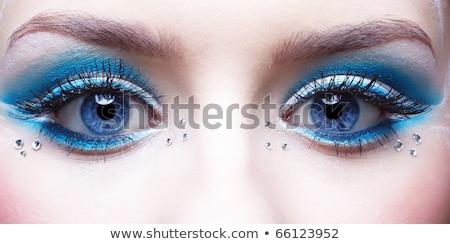 girl's eye-zone bodyart Stock photo © zastavkin