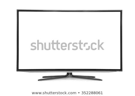 Nagyfelbontású LCD tv izolált televízió háttér Stock fotó © ozaiachin