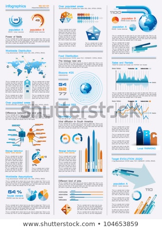 Infographics page with a lot of design elements  Stock photo © DavidArts