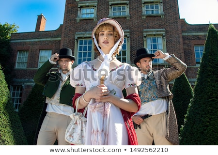 Woman dressed in period gown Stock photo © photography33