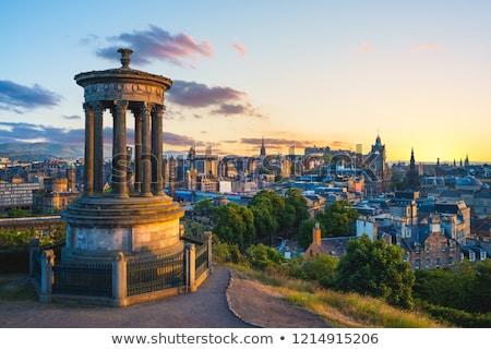 Эдинбург сумерки мнение холме Шотландии небе Сток-фото © broker