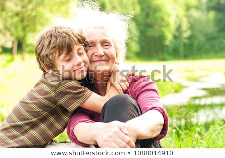 祖母 · 少女 · 自然 · 夏 · 少年 · 高齢者 - ストックフォト © natalinka