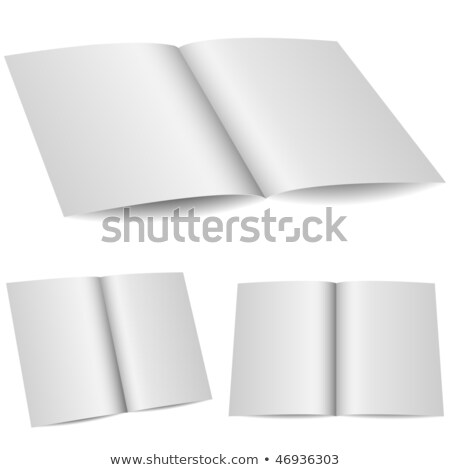Blank opened folder in 3 variants isolated on white background. Stock photo © tuulijumala