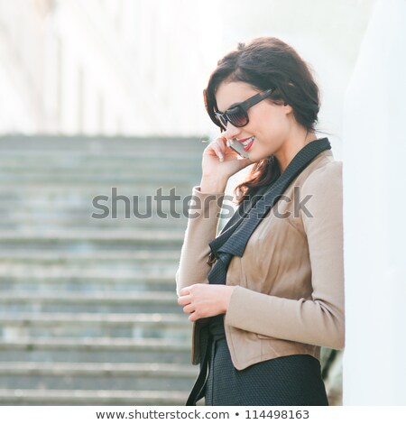 good-looking woman on the phone Stock photo © photography33