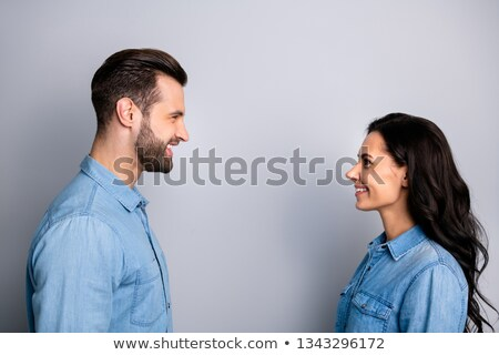 cute brunette and male fellow student Stock photo © photography33