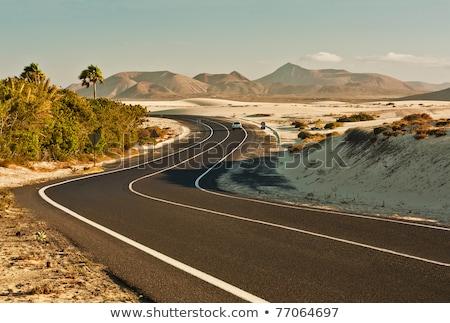 canárias · estrada · curvas · montanha · vermelho · natureza - foto stock © lunamarina