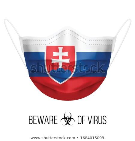 Словакия · политический · карта · Братислава · важный - Сток-фото © perysty