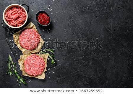 Raw Beef Patties Stock photo © kitch