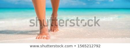 босиком пляж молодым человеком человека солнце Сток-фото © luissantos84