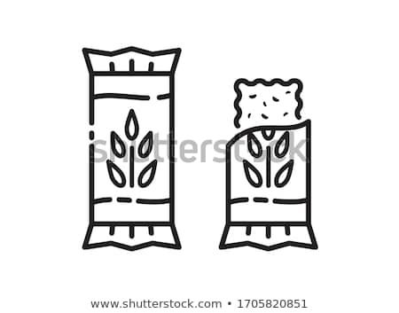 müsli · bar · granola · çikolata · beyaz · gıda - stok fotoğraf © m-studio