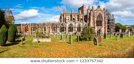 ruins of melrose abbey scottish borders scotland stock photo © phbcz